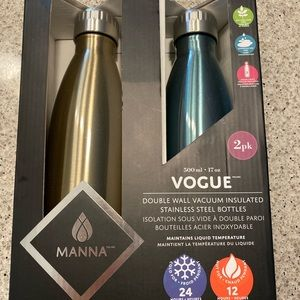 Other - NEW Manna 2pk Water Bottles - Insulated Stainless
